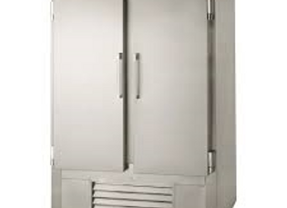 "Leader 54"" Two Solid Door Reach-In Freezer, Stainless Steel"