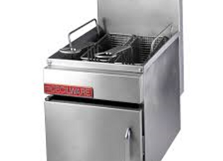 13 Pound Countertop Gas Fryer with Baskets
