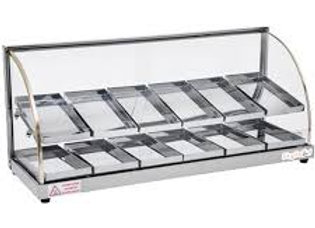 37'' Food Warmer Display Case - Double Shelf - Economy Line