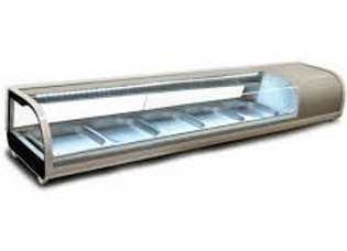 "53"" Refrigerated Sushi Display Case, Silver"