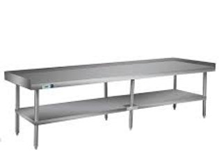 "30""D x 96""L Stainless Steel Commercial Equipment Stand"