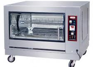 Electric 12 Chicken Batch Rotisserie Oven, 220V