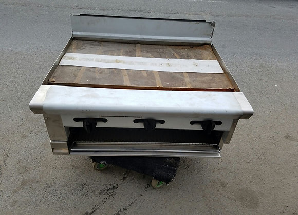 "new 36"" Flat Grill with broiler"