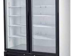 "Migali  54"" Double Glass Swing Door Merchandiser Freezer"