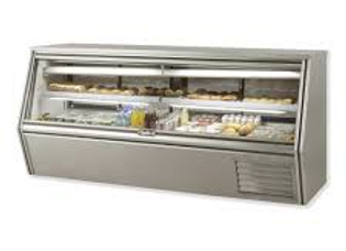"""96"""" Refrigerated Counter Height Raw Meat Deli Case with Gravity Coil"""