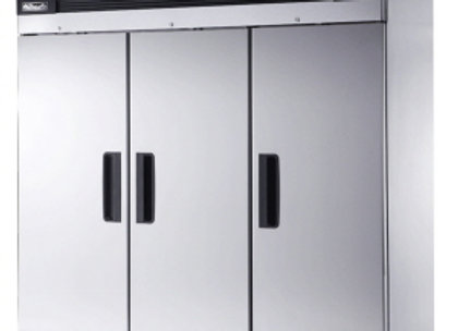 3 SOLID DOORS STAINLESS FREEZER