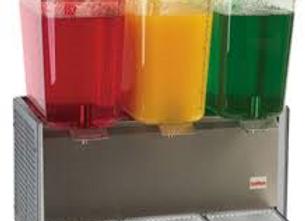 triple refrigerated beverage dispenser