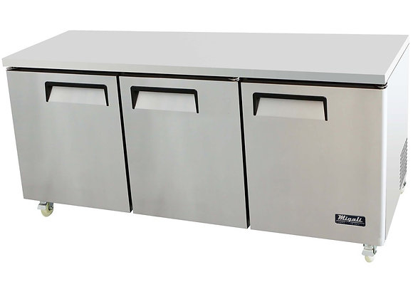 "73"" Undercounter Work Top Refrigerator - 24.5 Cu. Ft."