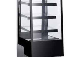 "25"" Straight Glass Refrigerated Bakery Display Case"