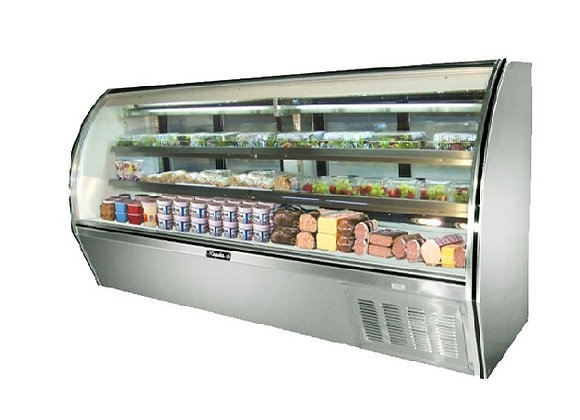 "118"" Curved Glass Deli Display Case - High Volume"