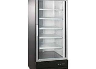 """28"""" Single Glass Swing Door Merchandiser Refrigerator - Black"""