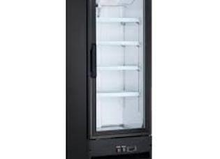 """21"""" Single Glass Swing Door Merchandiser Refrigerator - Black"""