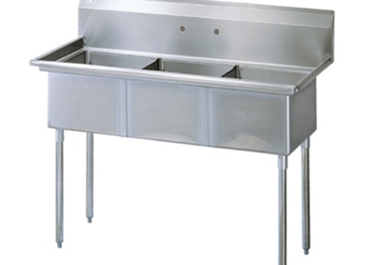 Three Compartment Utility Sink - 75""