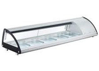 "70"" Refrigerated Sushi Display Case, White"