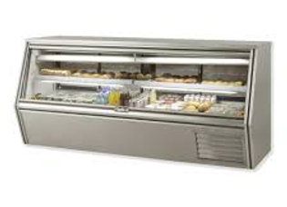 "Leader 96"" Refrigerated Counter Height Raw Meat Deli Case with Gravity Co"