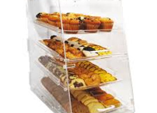 "Counter Top Display Case w/ (4) 12 x 18"" Trays, 14 x 24 x 24"", Clear"