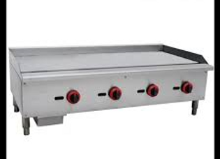 "48"" Gas Countertop Griddle with Manual Controls"