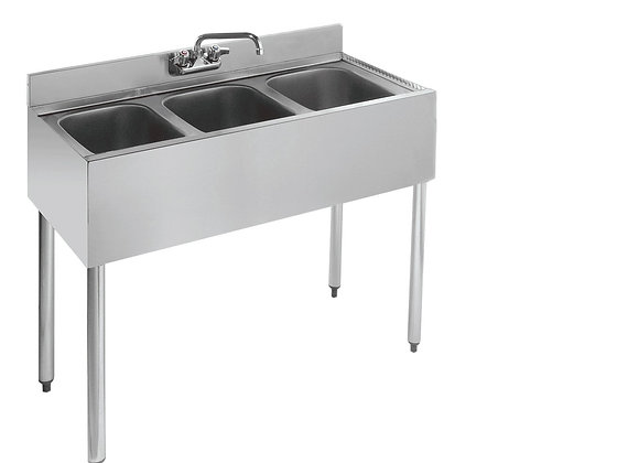 "36"" THREE COMPARTMENT BAR SINK"
