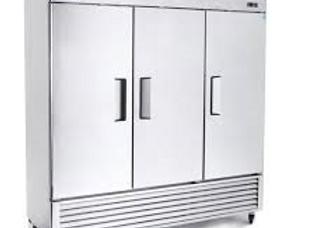 """Migali 82"""" Triple Solid Door Reach-In Freezer"""
