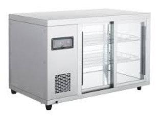 "Marchia 36"" Glass Sliding Door Display Refrigerator, Narrow 20"" Depth"