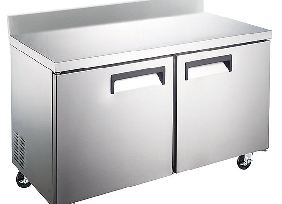 "60"" Undercounter Worktop Freezer with 4"" Backsplash"