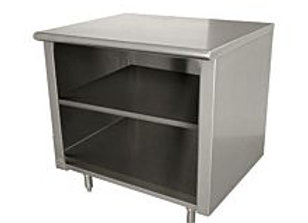 """30"""" X 72"""" Stainless Steel Storage Dish Cabinet - Open Front"""