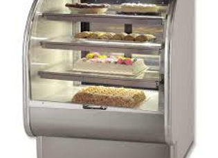 "36"" Refrigerated Curved Glass Bakery Display Case"