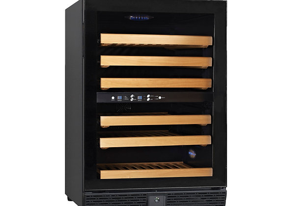 Dual Zone Wine Cooler with 45 Bottle Capacity