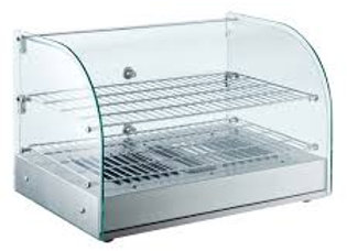 "22"" Curved Glass Countertop Hot Food Display Warmer"