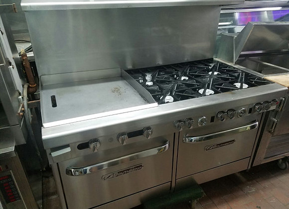 6 burners  stove with grill