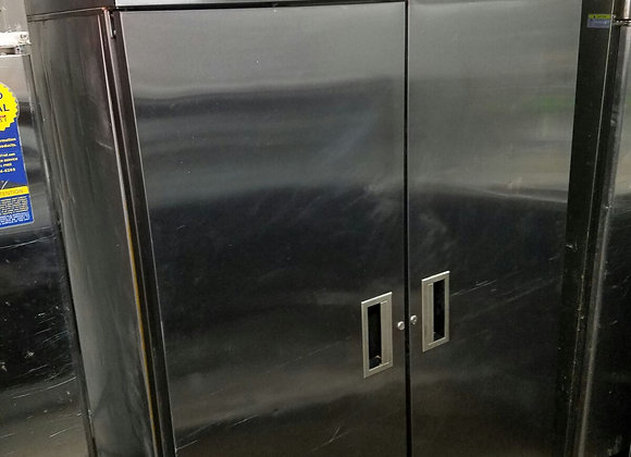 two  doors  refrigerator  stainless steel