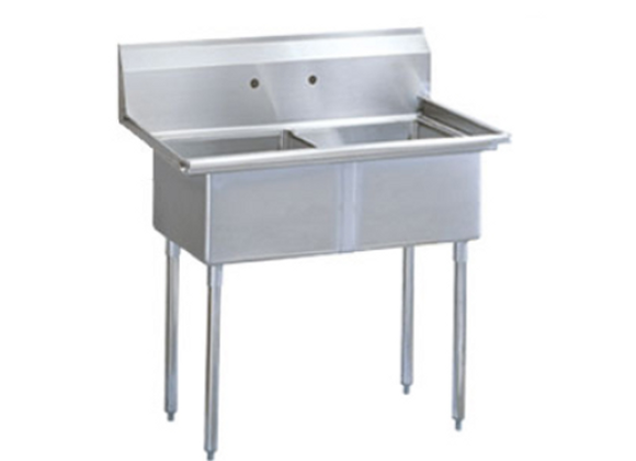 """Two Compartment Utility Sink - 53"""""""