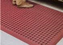 "Terracotta Anti-fatigue Mat, 1.42"" Beveled Edge"
