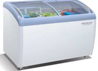 "49"" Curved Glass Top Display Ice Cream Freezer"
