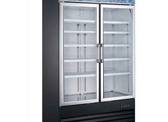 "48"" Double Glass Swing Door Merchandiser Refrigerator"