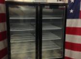 two glass door freezer