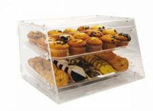 """Counter Top Display Case w/ (2) 12 x 18"""" Trays, 21 x 18 x 12"""", Clear"""