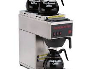 Portable Pourover Coffee Brewer w/ (1) Lower & (2) Upper Warmers, 120v