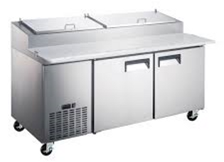"""71"""" Refrigerated Pizza Prep Table - 9 Pans"""