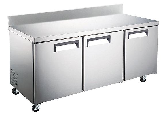 """72"""" Undercounter Worktop Refrigerator with 4"""" Backsplash"""