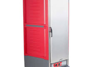 """Metro  27"""" Full-Size Insulated Red Solid Door Heated Holding Cabinet"""