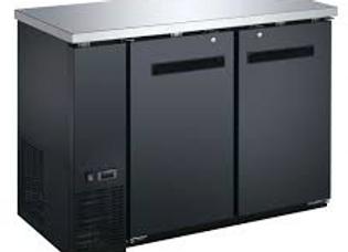 "48"" Black Solid Door Back Bar Refrigerator"
