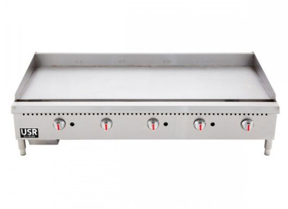 "60"" Commercial Countertop Gas Griddle with Thermostatic Controls - 150,000 BTU"