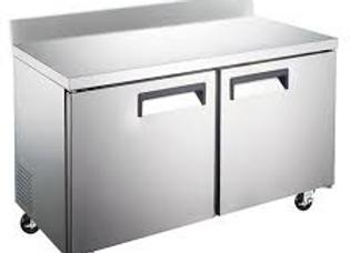 """60"""" Undercounter Worktop Refrigerator with 4"""" Backsplash"""