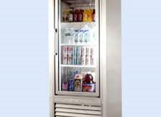 soda case whith pulling glass door cooler 1 door