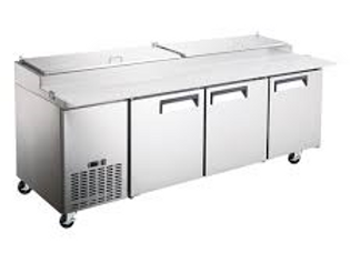 """92"""" Refrigerated Pizza Prep Table - 12 Pans"""