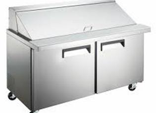 "60"" Mega Top Bain Marie Sandwich Prep Refrigerator"