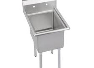 "19"" 1 Compartment Sink with 14"" x 16"" Bowl & No Drainboard"