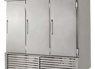 "Leader 79"" Three Solid Door Reach-In Freezer, Stainless Steel"