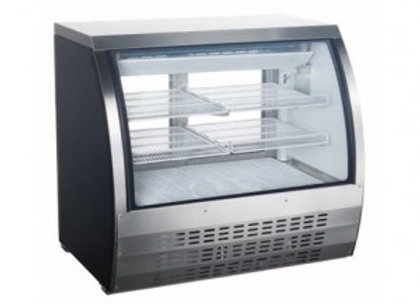 "Universal FCI-48-SC 48"" Refrigerated Deli Meat Display Case, Curved Glass, Stain"